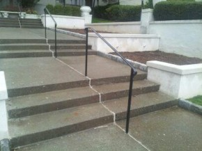 "Basic handrail with 1 5/8"" molding & 1"" solid square posts"